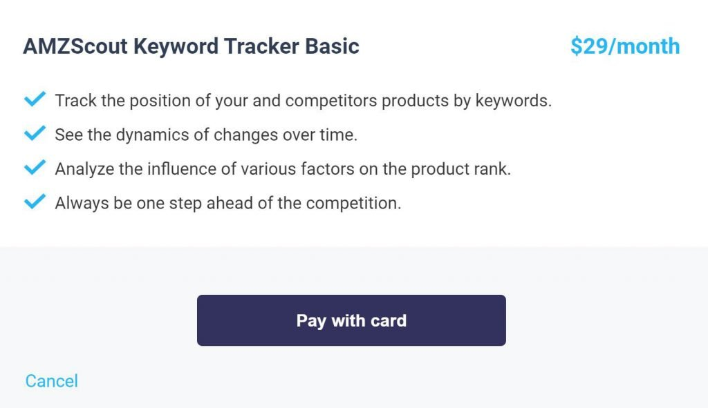 amazon scout keyword tracker