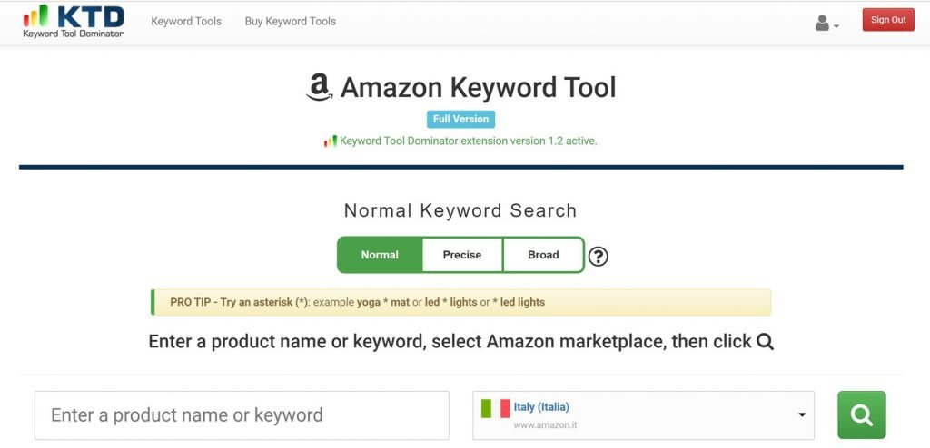 keyword tool dominator recensione