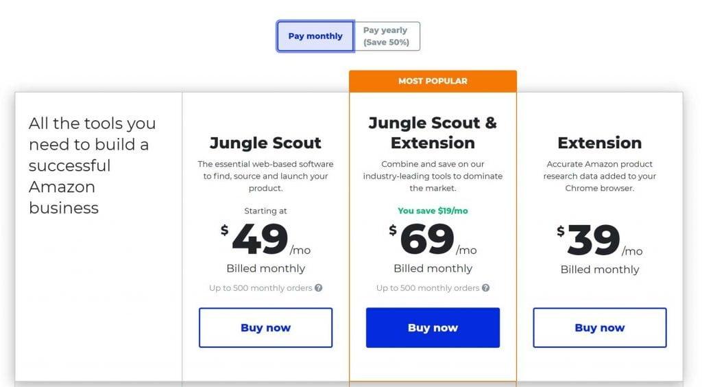 jungle scout prezzo