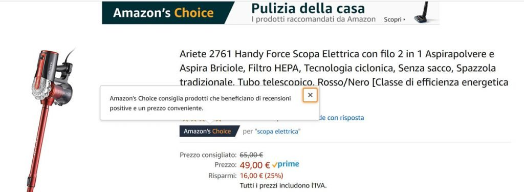 amazon choice significato